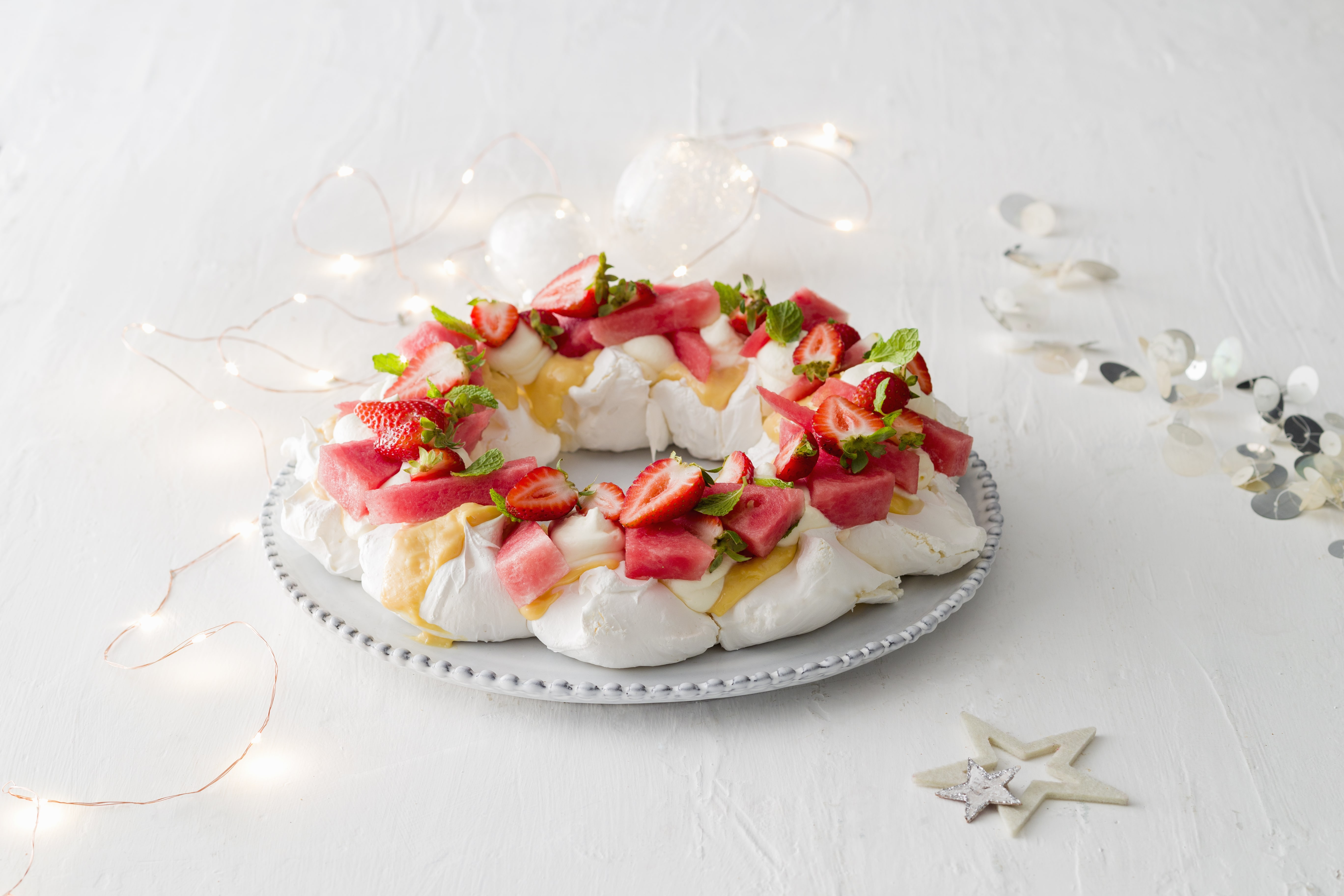 Watermelon & Lime Pavlova Wreath